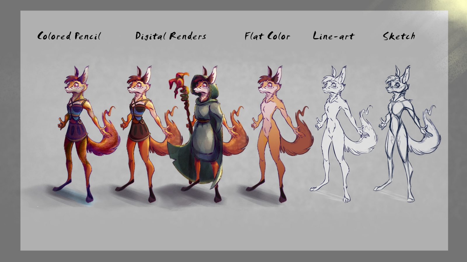 Fox character process