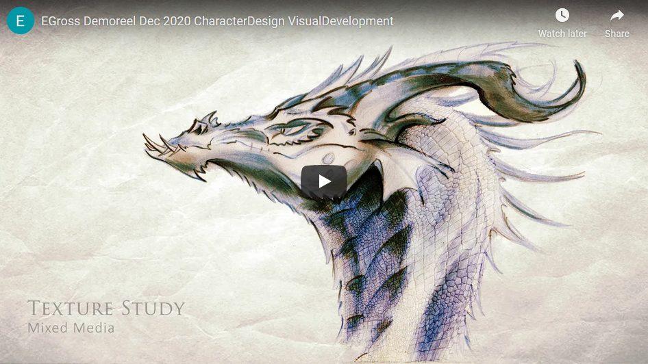 Character Design / Visual Development Demo Reel – March 2021