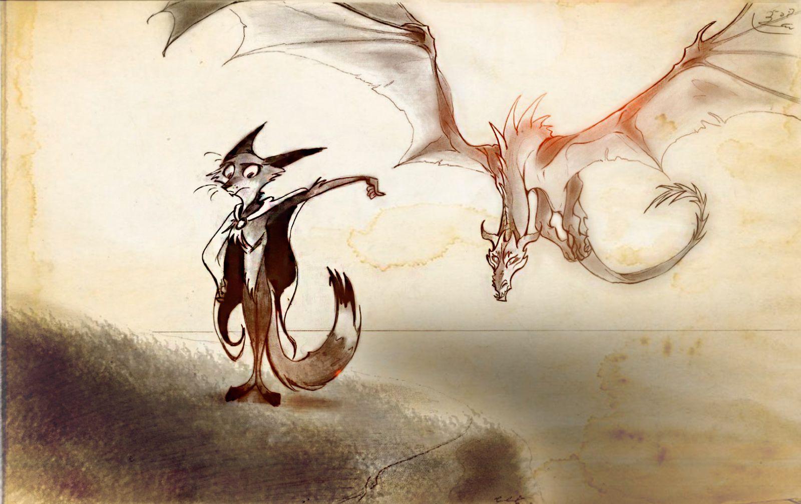 Fox Summoning the Dragon